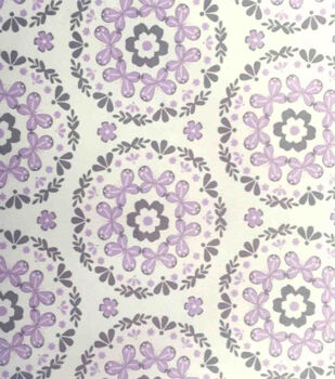 Nursery Fabric - Butterfly Garden Mandala Soft N Comfy