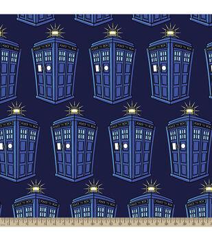 Doctor Who Police Public Call Box Fleece Fabric