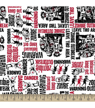 Snuggle Flannel Fabric-Zombies Dudes