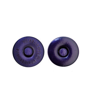 "Everything Mary Purple Large 11/16"" Magnetic Snaps-2pk"