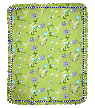 """Tink Floral 48"""" No Sew Throw"""