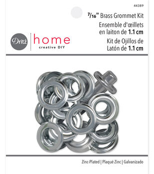 "Dritz Home 0.44"" Metal Grommet Kit Silver"