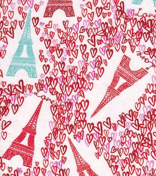 Snuggle Flannel Fabric-Paris Love