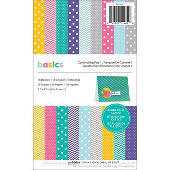 Pebbles Basics Cardmaking Pad #1 Brights