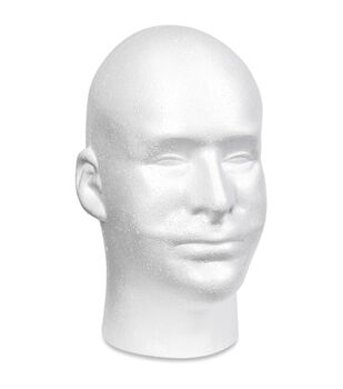 Male Foam Head- White