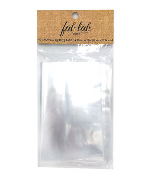 Archive Quality Poly Bags, 4-3/4 x 6-3/4 inches, 40pcs.