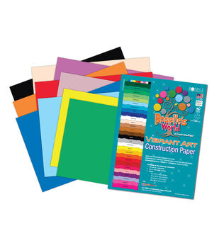 Roselle's Vibrant Construction Paper 12'' x 18''-50 sheets Assorted Colors