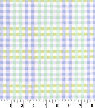Nursery Cotton Fabric-Lauren Purple Plaid