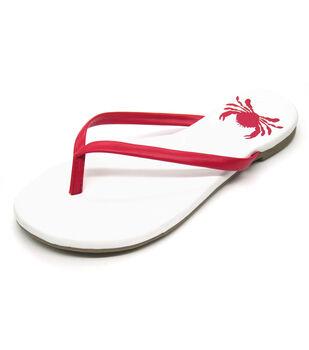 Escape to Paradise Women's Flip Flops-Crab