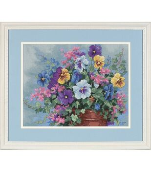 Dimensions No Counted Cross Stitch Kit Pansy Profusion