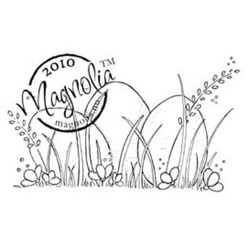 Magnolia Hoppy Easter Cling Stamp Three Eggs