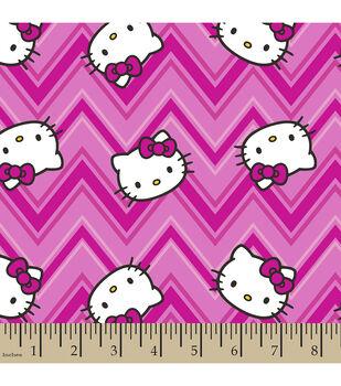 Sanrio Hello Kitty Chevron Flannel Fabric