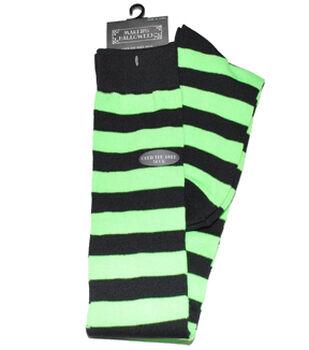 Maker's Halloween Over the Knee Socks-Rugby Neon Green