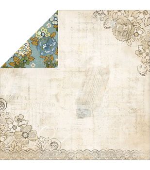 Adorn-It Wisteria A Double-Sided Cardstock