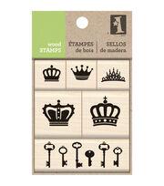 Inkadinkado Wood Stamp Set -Crown, , hi-res