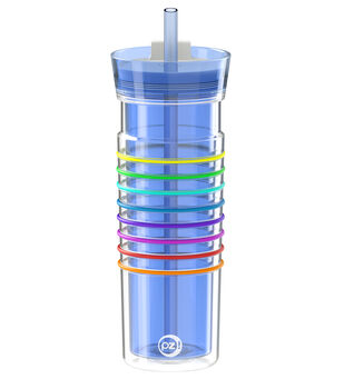 HydraTrak 20oz Water Intake Calculator Tumbler with Straw-Periwinkle