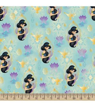 Disney® Alladin Princess Jasmine with Gold Metallic Cotton Fabric