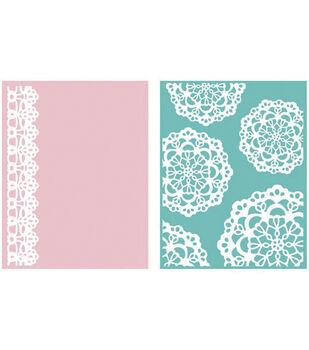 We R Memory Keepers Goosebumpz A2 Embossing Folders Doily