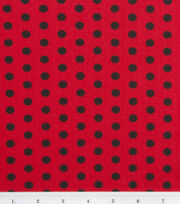 Keepsake Calico™ Cotton Fabric-Zest Dot Black On Red, , hi-res