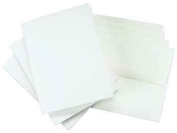 "4""x5-3/4"" Greeting Cards & Envelopes-25PK/White"