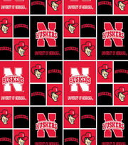 University of Nebraska NCAA  Cotton Fabric, , hi-res