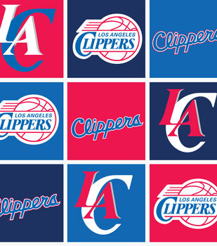 LA Clippers NBA  Fleece Fabric