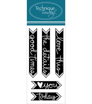"""Technique Tuesday Clear Stamps 2""""X4""""-Good Time Arrows"""