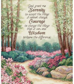 Dimensions Gold Counted Cross Stitch Kit Serenity, Courage, & Wisdom
