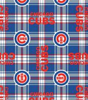 Chicago Cubs MLB Plaid Fleece Fabric, , hi-res