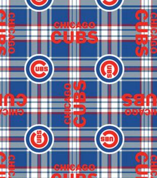 Chicago Cubs MLB Plaid Fleece Fabric