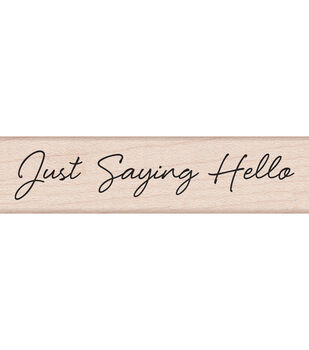 "Hero Arts Mounted Rubber Stamps 3""X1.5""X1""-Little Greetings Just Saying Hello"