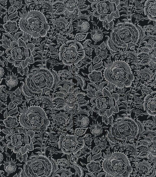 Halloween Cotton Fabric-Floral Skull Heads