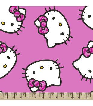 Sanrio Hello Kitty Chevron Fleece Fabric