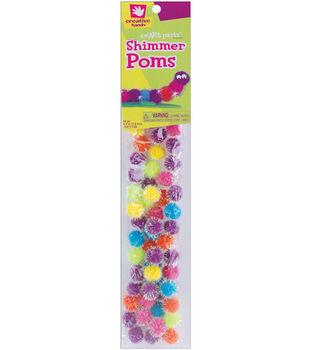 """Fibrecraft 1/2"""" Shimmer Pom Poms-60PK/Pastel"""