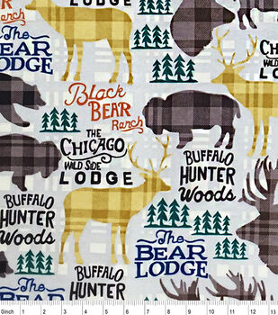 Snuggle Flannel Fabric-Black Bear Ranch