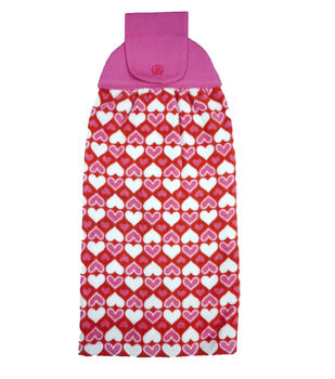Valentine's Day Granny Towel-All Over Hearts