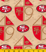 San Francisco 49ers NFL Retro Gold Cotton by Fabric Traditions, , hi-res