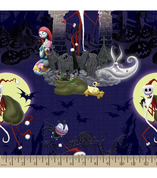 Holiday Inspirations™ Christmas Fabric-Nightmare Before Christmas Santa Jack
