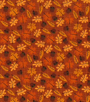 Autumn Inspirations Fabric-Harvest Leaf