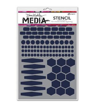 Ranger Dina Wakley Essentials Media Stencils