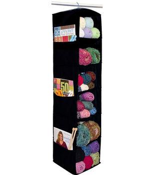 "6 Shelf Yarn & Craft Organizer 48""X11""X11"" Black"