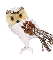 Blooming Holiday Large Owl With Snow-White, , hi-res