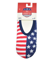 Sea To Shining Sea No Show Socks-Flag , , hi-res
