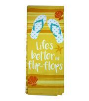 Escape To Paradise Flour Sack Towel-Life's Better In Flip-Flops, , hi-res