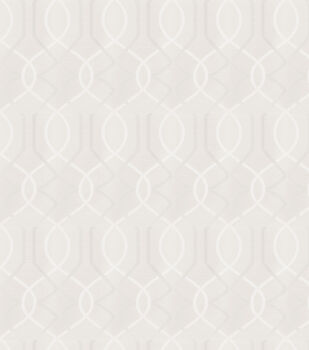 Eaton Square Print Fabric-Distributors/White