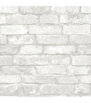WallPops® NuWallpaper™ Grey White Brick