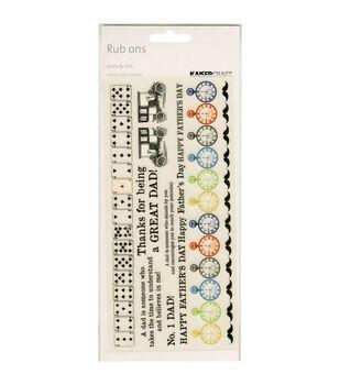 "Sears&Son Rub-Ons 8.25""X4"" Sheet-Colour"