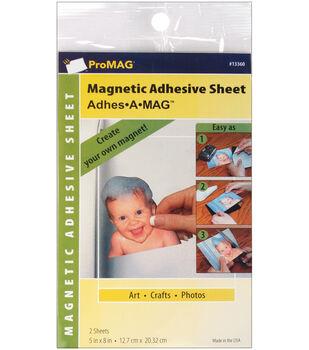 "Magnum Magnetics Pro Mag Magnetic Adhesive Sheet(2) 5""X8"""
