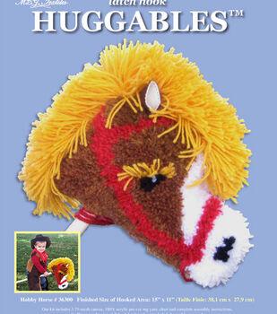 "Huggables Hobby Horse Stuffed Toy Latch Hook Kit-15""X11"""
