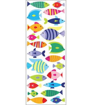 EK Success Puffy Classic Stickers-Fish